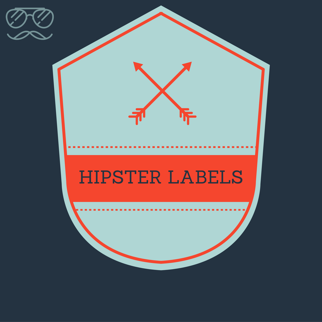 Hipster label theme